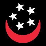 Smiling Singapore Flag